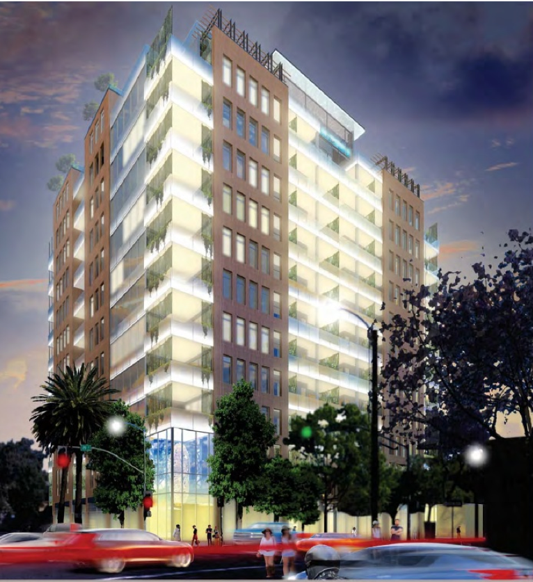 Rendering of project at 25th and J in Sacramento