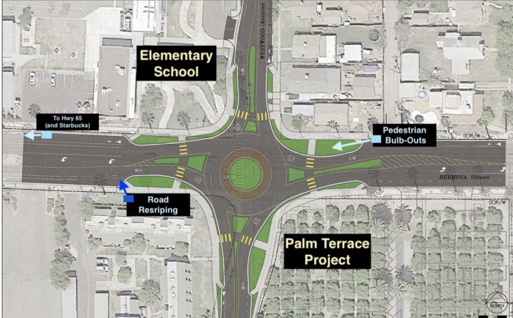 graphic map of roundabout project