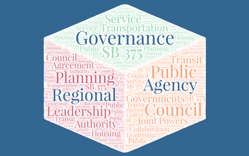 Cubed word cloud featuring the words Governance, Regional and Agency