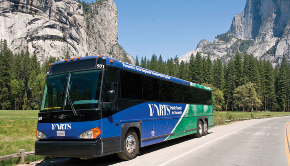 YARTS bus in Yosemite Valley